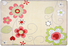 "Pretty Posies© Classroom Rug, 5'4"" x 7'8"" Rectangle"