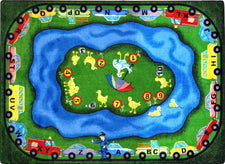 "Puddleducks© Alphabet & Numbers Classroom Rug, 7'8"" x 10'9"" Rectangle"