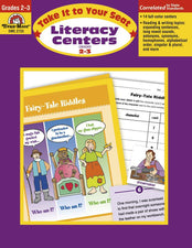 Evan-Moor Take It to Your Seat Literacy Centers Activity Book, Grades 2-3