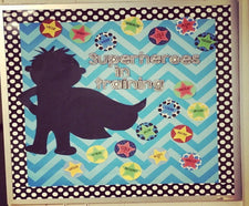 """Superheroes In Training"" Back-To-School Bulletin Board"