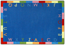 "Rainbow Alphabet© Classroom Rug, 5'4"" x 7'8"" Rectangle Bold"