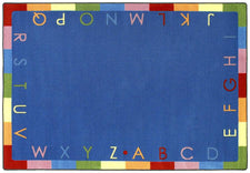 "Rainbow Alphabet© Classroom Rug, 3'10"" x 5'4"" Rectangle"