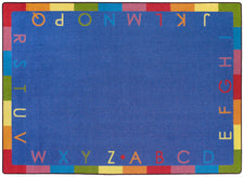 "Rainbow Alphabet© Classroom Rug, 7'8"" x 10'9"" Rectangle Soft"