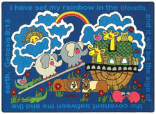"Rainbow's Promise© Kid's Play Room Rug, 3'10"" x 5'4"" Rectangle"