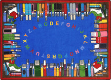 "Read & Learn© Classroom Rug, 5'4"" x 7'8"" Rectangle"