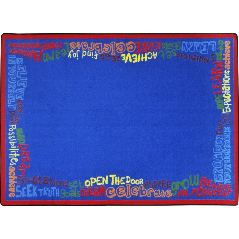 "Read, Believe & Achieve™ Classroom Seating Rug, 7'8"" x 10'9"" Rectangle"