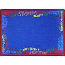 "Read, Believe & Achieve™ Classroom Seating Rug, 5'4"" x 7'8"" Rectangle"
