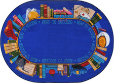 "Read to Succeed© Classroom Rug, 5'4"" x 7'8""  Oval"