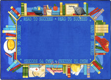 "Read to Succeed© Classroom Rug, 5'4"" x 7'8"" Rectangle"