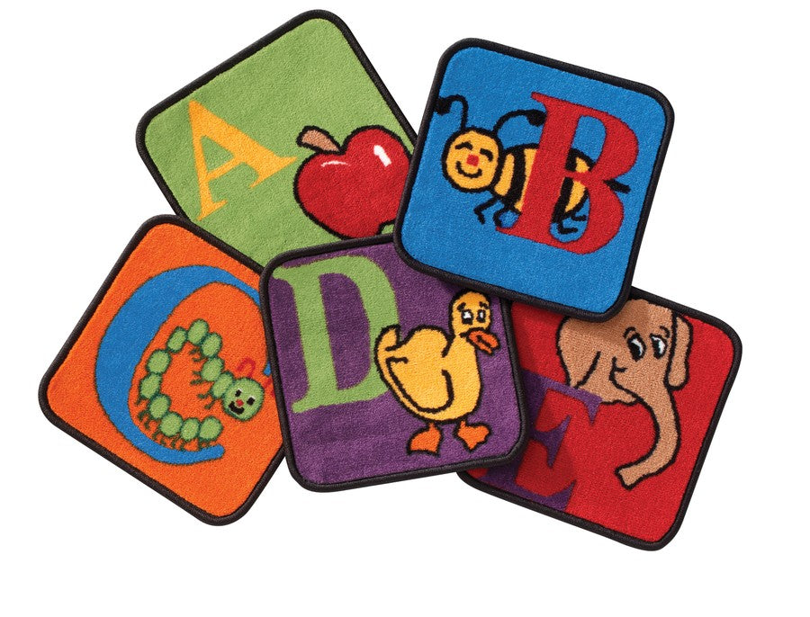 Reading by the Book Alphabet KID$ Value PLUS Discount Carpet Squares, Set of 26