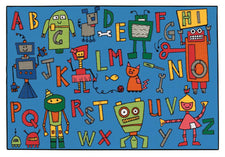 Reading Robots KID$ Value Discount Rug, 4' x 6' Rectangle