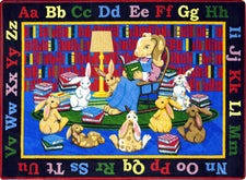 "Reading Rocks© Classroom Rug, 5'4"" x 7'8"" Rectangle"