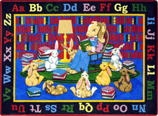 "Reading Rocks© Classroom Rug, 7'8"" x 10'9"" Rectangle"