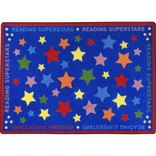"Reading Superstars™ Classroom Seating Rug, 7'8"" x 10'9"" Rectangle"