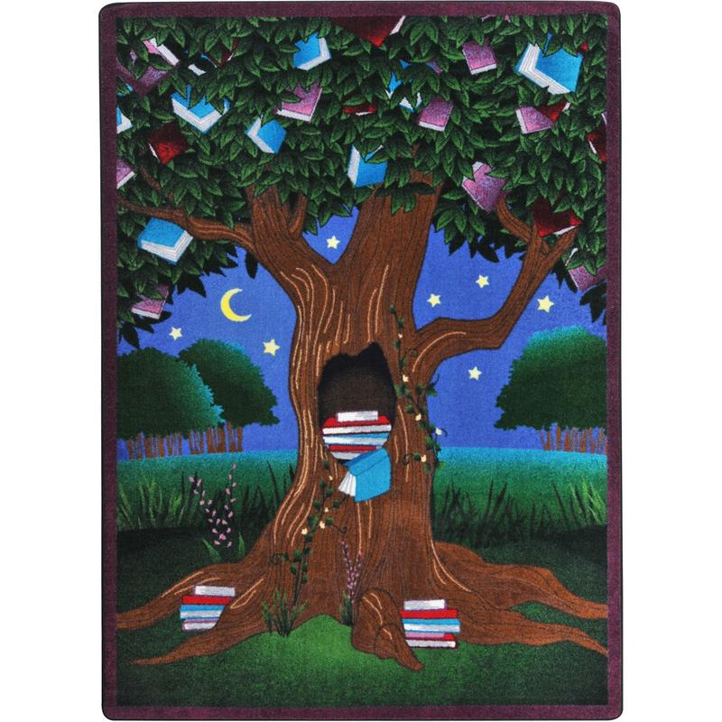 "Carpets For Classrooms For Toddlers: Joy Carpets Reading Tree™ Classroom Carpet, 5'4"" X 7'8"
