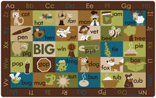 "Rhyme Time Rug – Nature, 7'6"" x 12' Rectangle"