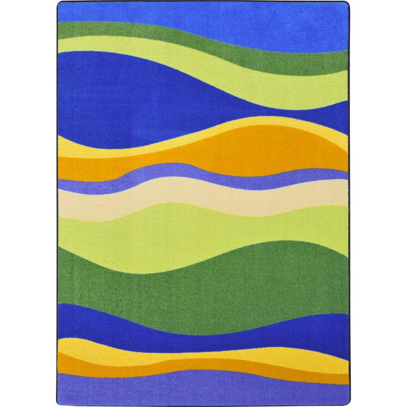 "Riding Waves™ Classroom Rug, 5'4"" x 7'8"" Rectangle"
