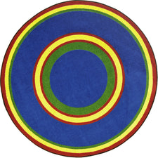 "Ripples© Classroom Rug, 3'10"" x 5'4""  Oval Primary"