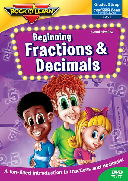 Beg Fractions Decimals On DVD