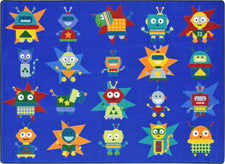"Robot Invasion© Classroom Rug, 5'4"" x 7'8"" Rectangle"