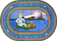 "Row Your Boat© Kid's Play Room Rug, 3'10"" x 5'4""  Oval"