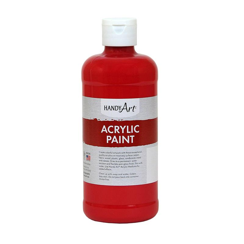 Handy Art® Student Acrylic Paint, 16 Oz Brite Red
