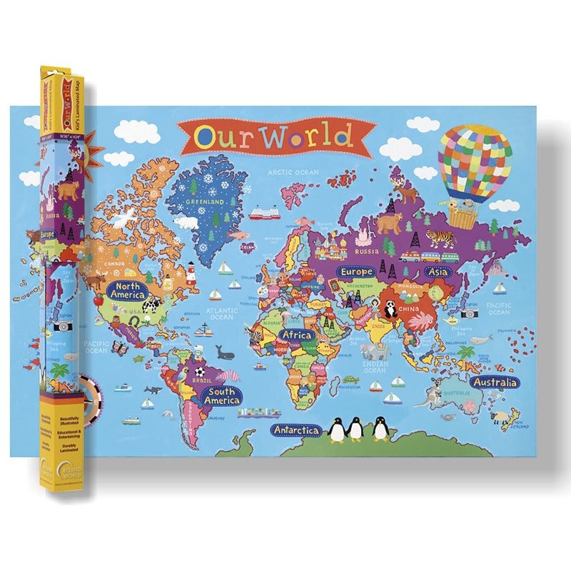 Round World Products Kid's World Wall Map