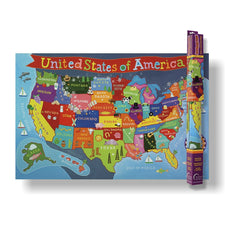 Round World Products Kid's United States Wall Map