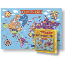 Round World Products Kid's World 100-Piece Puzzle