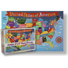 Round World Products Kid's USA Jumbo 48-Piece Floor Puzzle