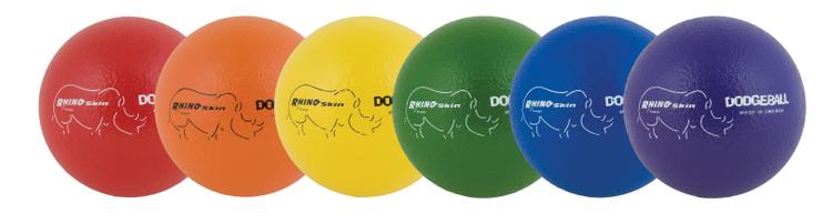 Rhino Skin 6 Inch Dodgeball, 6 Set Assorted