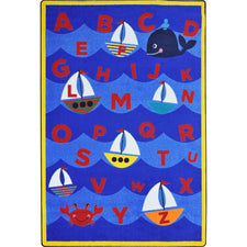 "Sailor's Alphabet™ Classroom Seating Rug, 7'8"" x 10'9"" Rectangle"