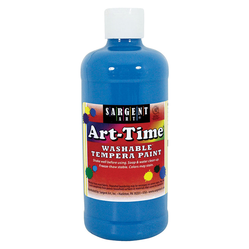 Sargent Art ® Washable Tempera Paint, 16 Oz. Turquoise