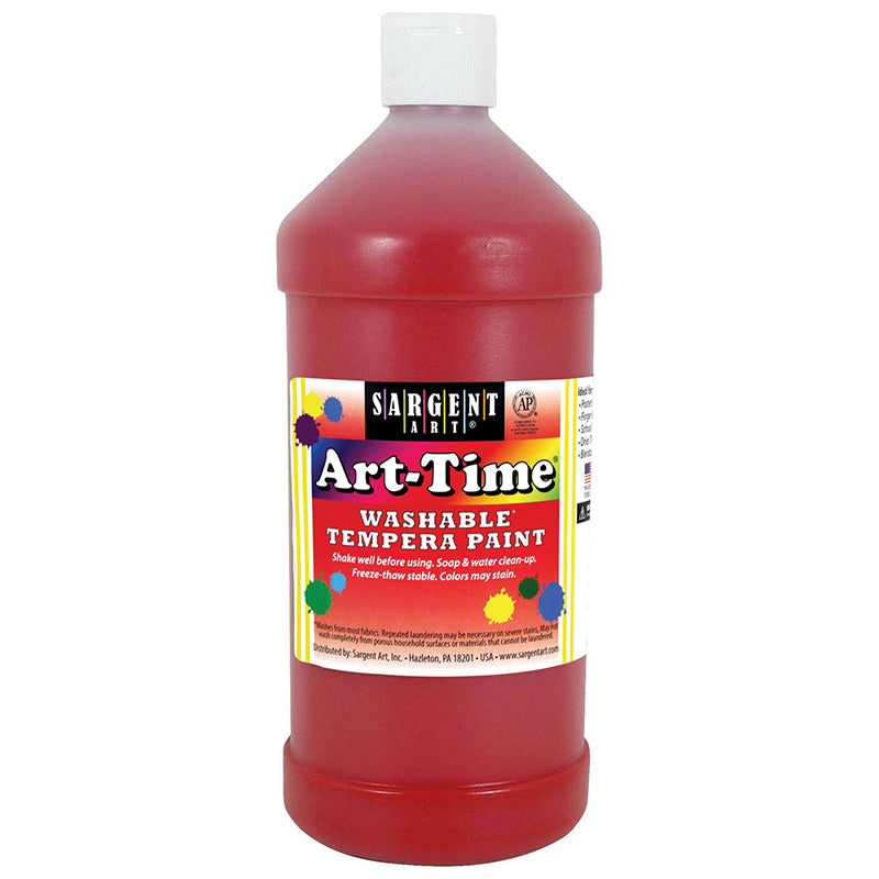 Sargent Art ® Washable Tempera Paint, 32 Oz. Red