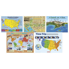 Scholastic Map Skills Poster Set