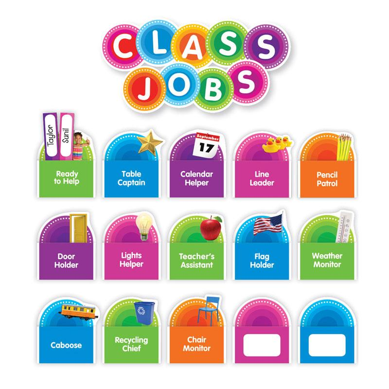 Color Your Classroom: Class Jobs Bulletin Board Set