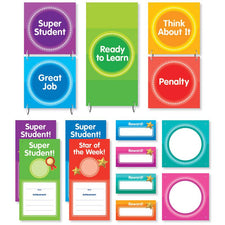 Color Your Classroom: Behavior Clip Chart Mini Bulletin Board Set
