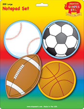 Creative Shapes Notepad Sports Set Large