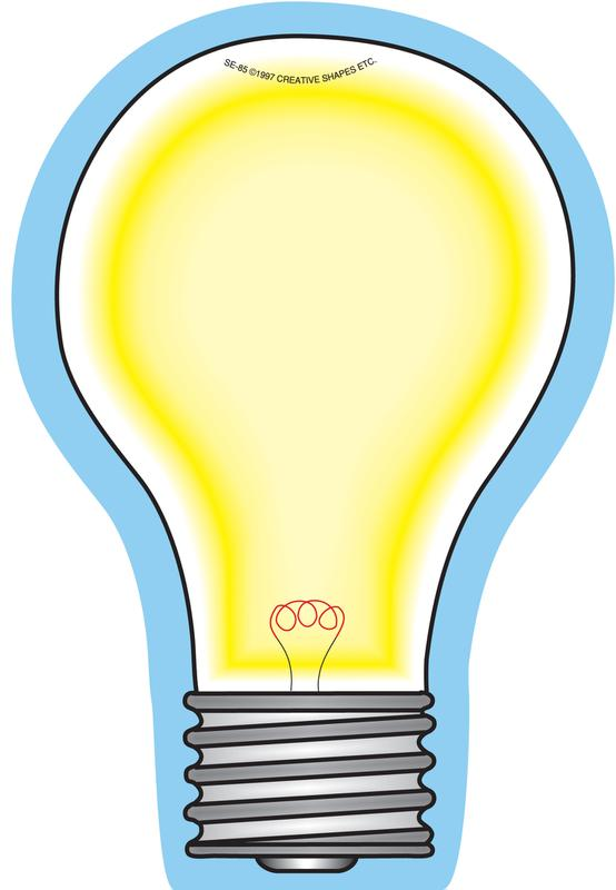Creative Shapes Notepad Light Bulb Large