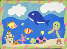 "Sea Babies© Kid's Play Room Rug, 3'10"" x 5'4"" Rectangle"