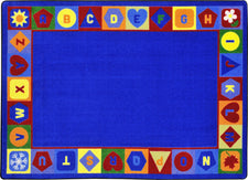 "Seasons & Shapes Alphabet© Classroom Circle Time Rug, 7'8"" x 10'9"" Rectangle"