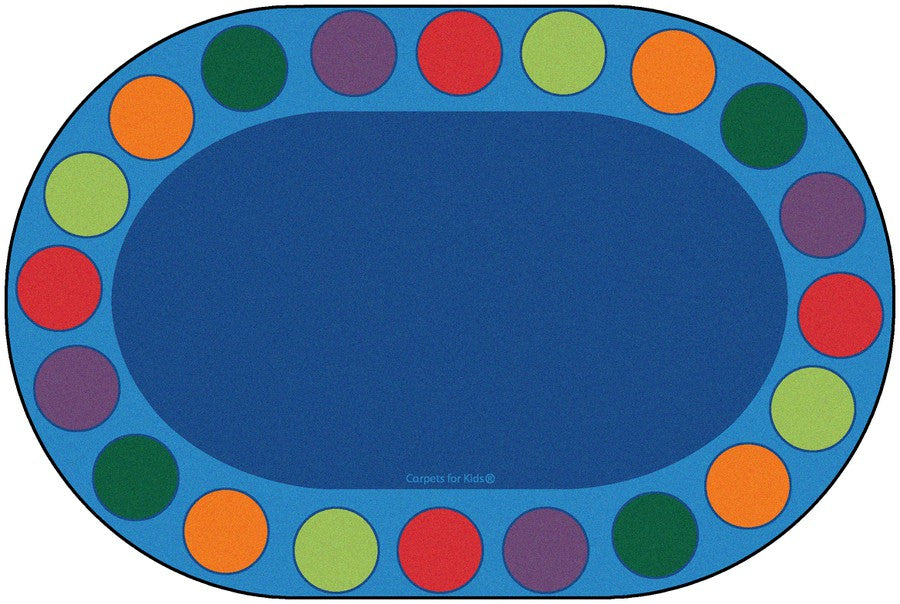 Seating Circles Classroom Circle Time Rug, 8' x 12' Oval (seats 20)