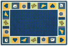 "Seeing Spots© Classroom Rug, 3'10"" x 5'4"" Rectangle Bold"