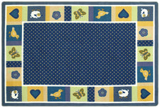 "Seeing Spots© Classroom Rug, 5'4"" x 7'8"" Rectangle Bold"