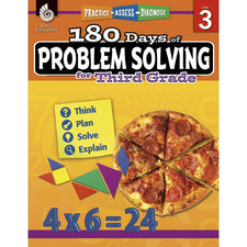 Shell Education 180 Days of Problem Solving for Third Grade