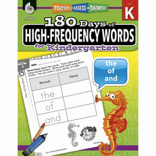 Shell Education 180 Days of High-Frequency Words for Kindergarten