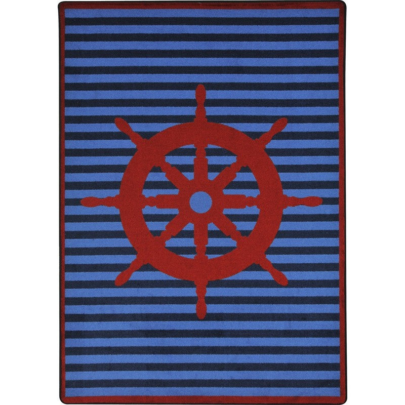 "Set Your Course™ Classroom Carpet, 7'8"" x 10'9"" Rectangle - Red"