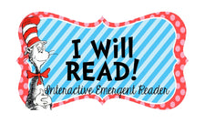 """I Will READ!"" - Dr. Seuss Interactive Reader Printable"