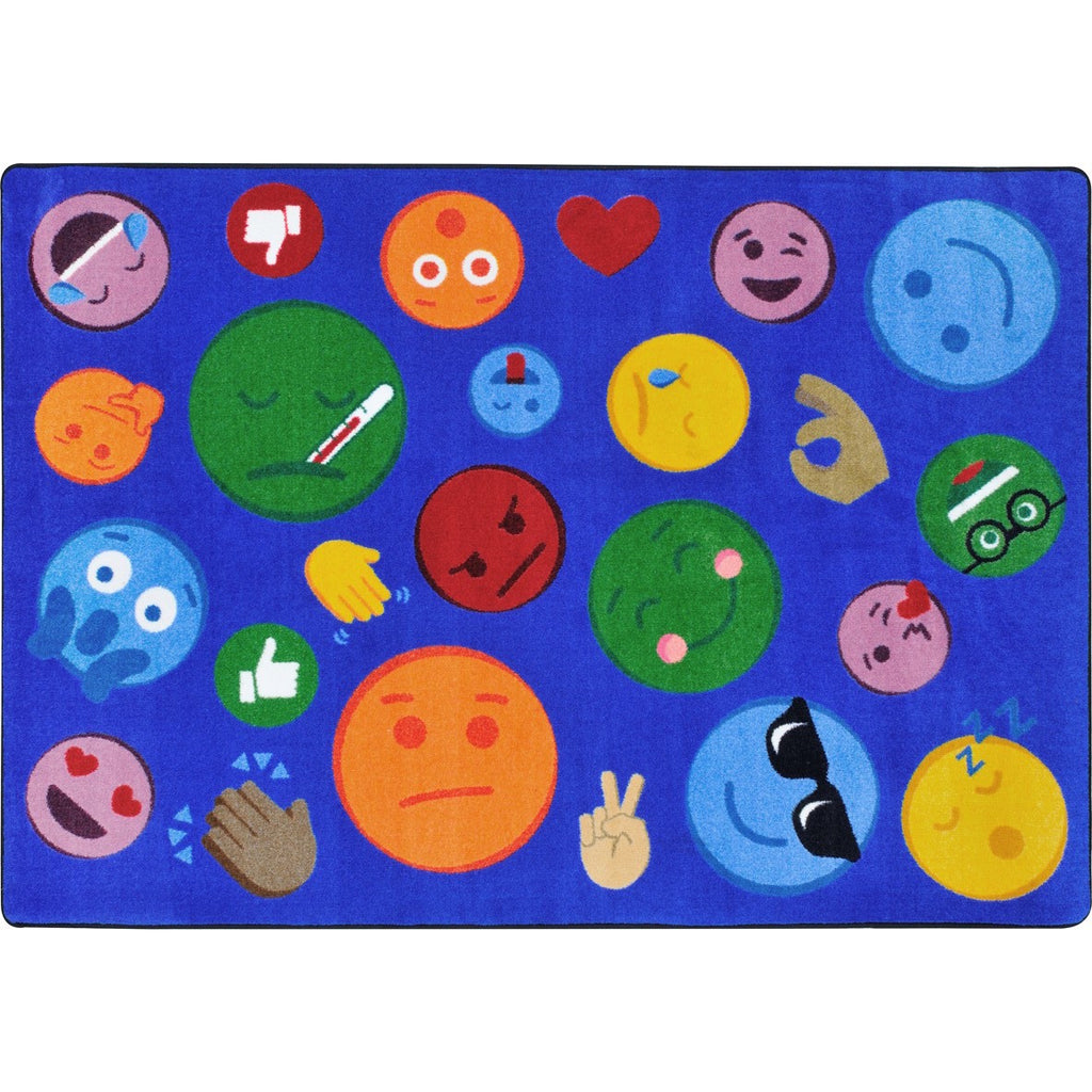 "Shake 'Em Up Emojis™ Classroom Seating Rug, 7'8"" x 10'9"" Rectangle"