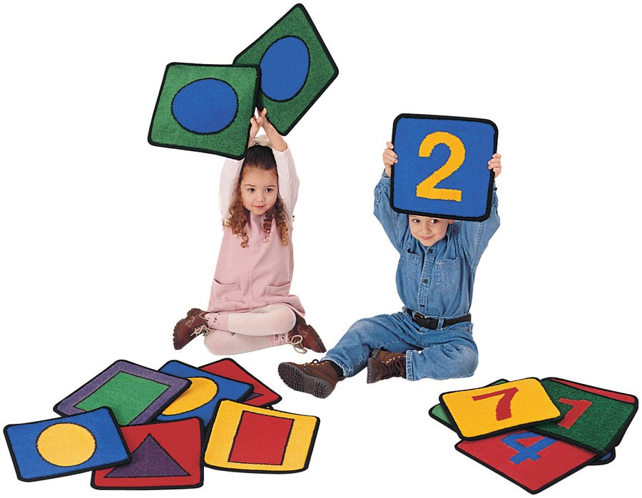Shapes and Numbers KID$ Value PLUS Discount Carpet Squares, Set of 20